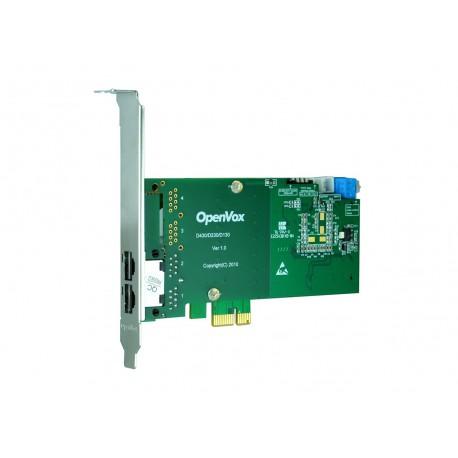 OpenVox DE230E 2 x T1/E1/J1 PCI-E kártya