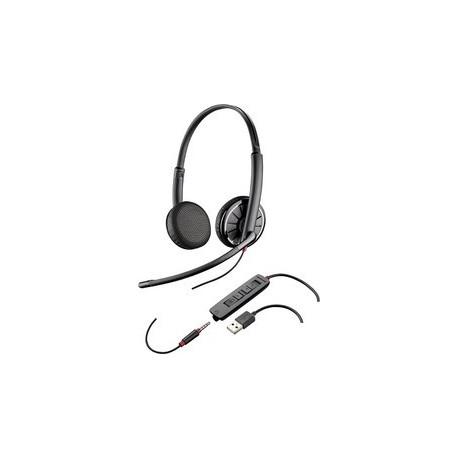 PLANTRONICS BLACKWIRE 3220 HEADSET USB DUO NC 209745-101