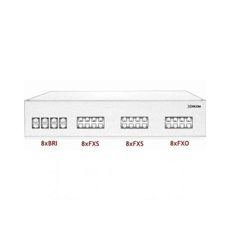 XORCOM IP PBX - 8 BRI + 16 FXS + 8 FXO - XR3104