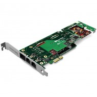 (B720100DE) FlexBRI Modular Digital Voice Card: 4 Ports BRI + 2  Ports FXS with Hardware Echo Canceller, PCI-Express slot