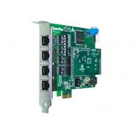 OpenVox DE410E négy portos T1/E1/J1 PCI-E kártya