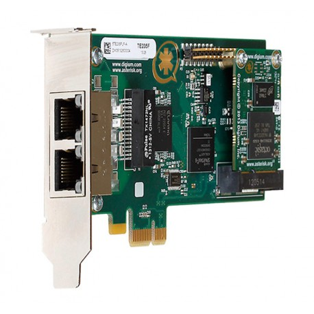 Digium PCIe Wildcard TE235B (Dual-Span) 2xPRI +EC Bundle