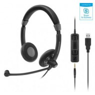 SENNHEISER SC75 HEADSET DUO USB 3,5MM JACK SKYPE FOR BUSINESS 507086