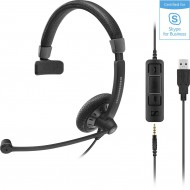 SENNHEISER SC45 HEADSET MONO USB 3,5MM JACK SKYPE FOR BUSINESS 507083